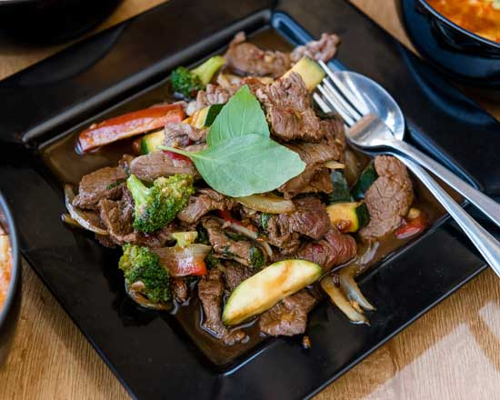 an image of our beef & basil stir fry