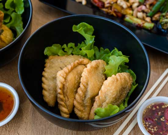 an image of our curry puffs