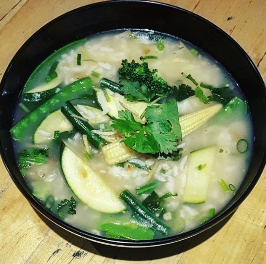 an image of our rice soup kow tom