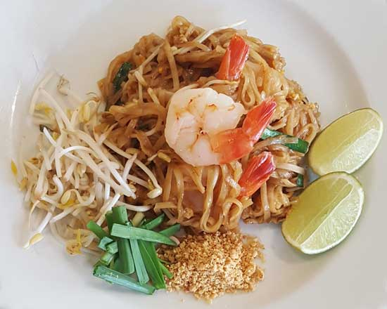 an image of our pad thai with prawns