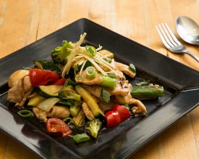 an image of our ginger chicken stir fry
