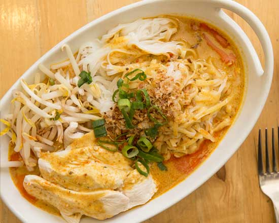 an image of our chicken laksa