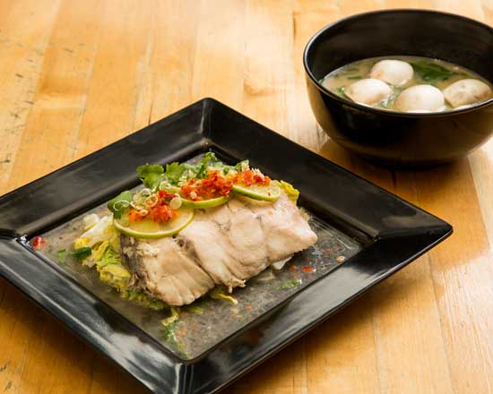 an image of our lemongrass steamed fish