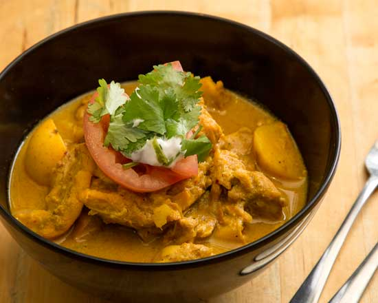 an image of our yellow chicken curry