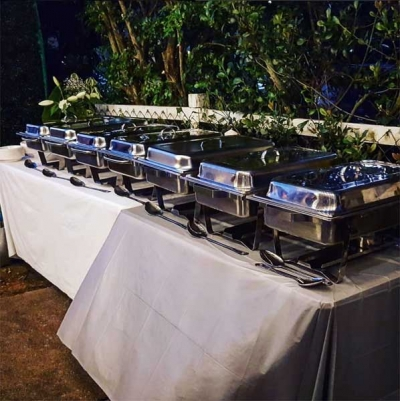 image of home party catering - outdoors 25th Birthday Party
